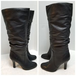 Sofft Belfast Slouched Black Leather Comfort Boots